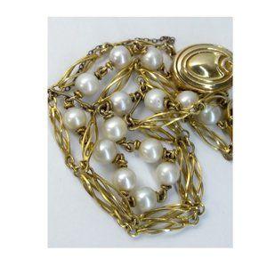 Vintage Jewelry - Vintage 14k Gold White Cultured Pearl Bracelet